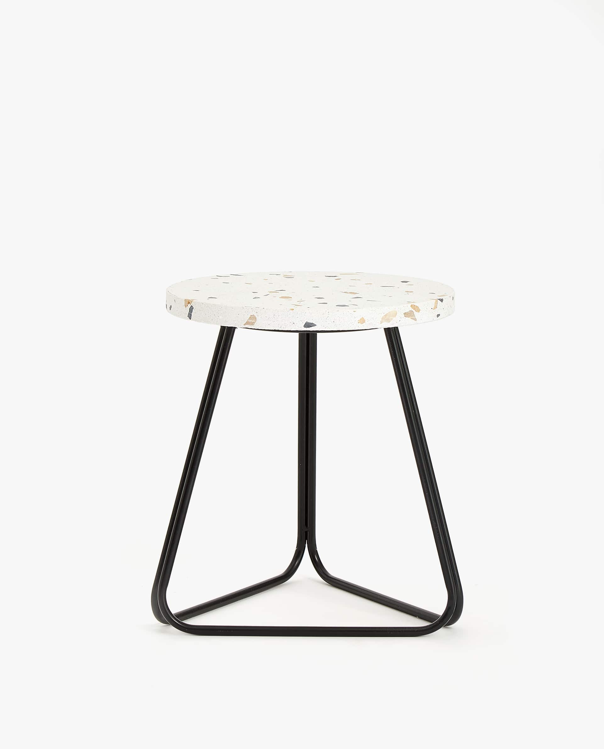 ROUND TERRAZZO SIDE TABLE