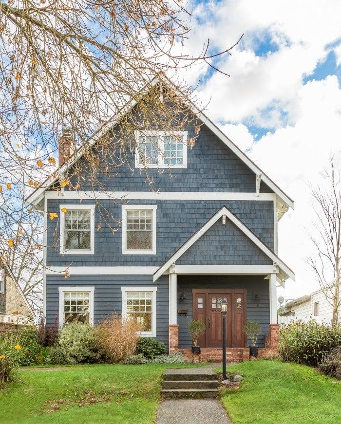 Blue suburban home