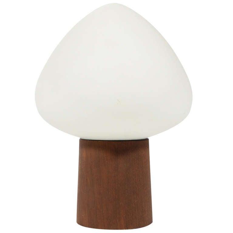 Laurel Mushroom Table Lamp with Walnut Base