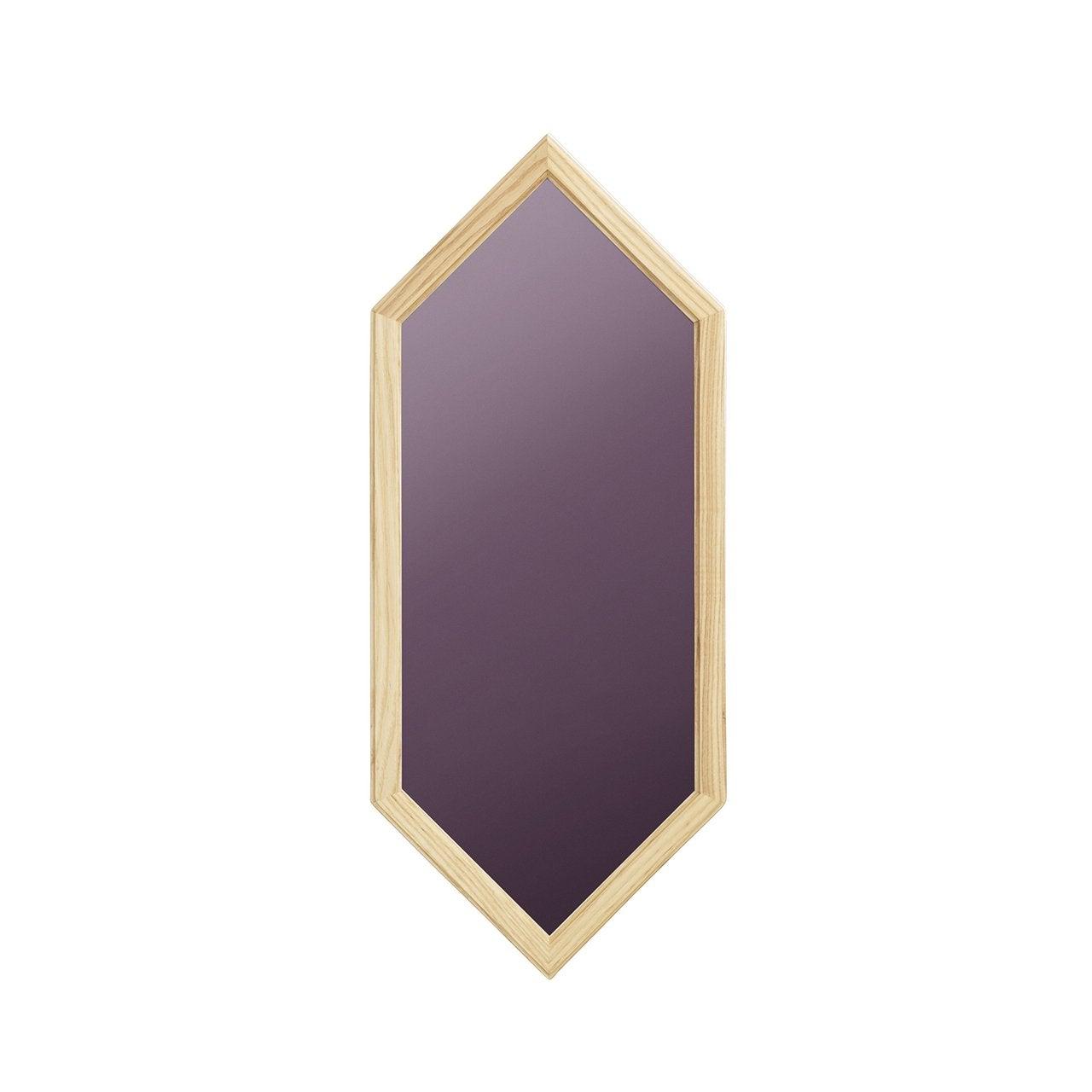 Purple Hexagonal Mirror