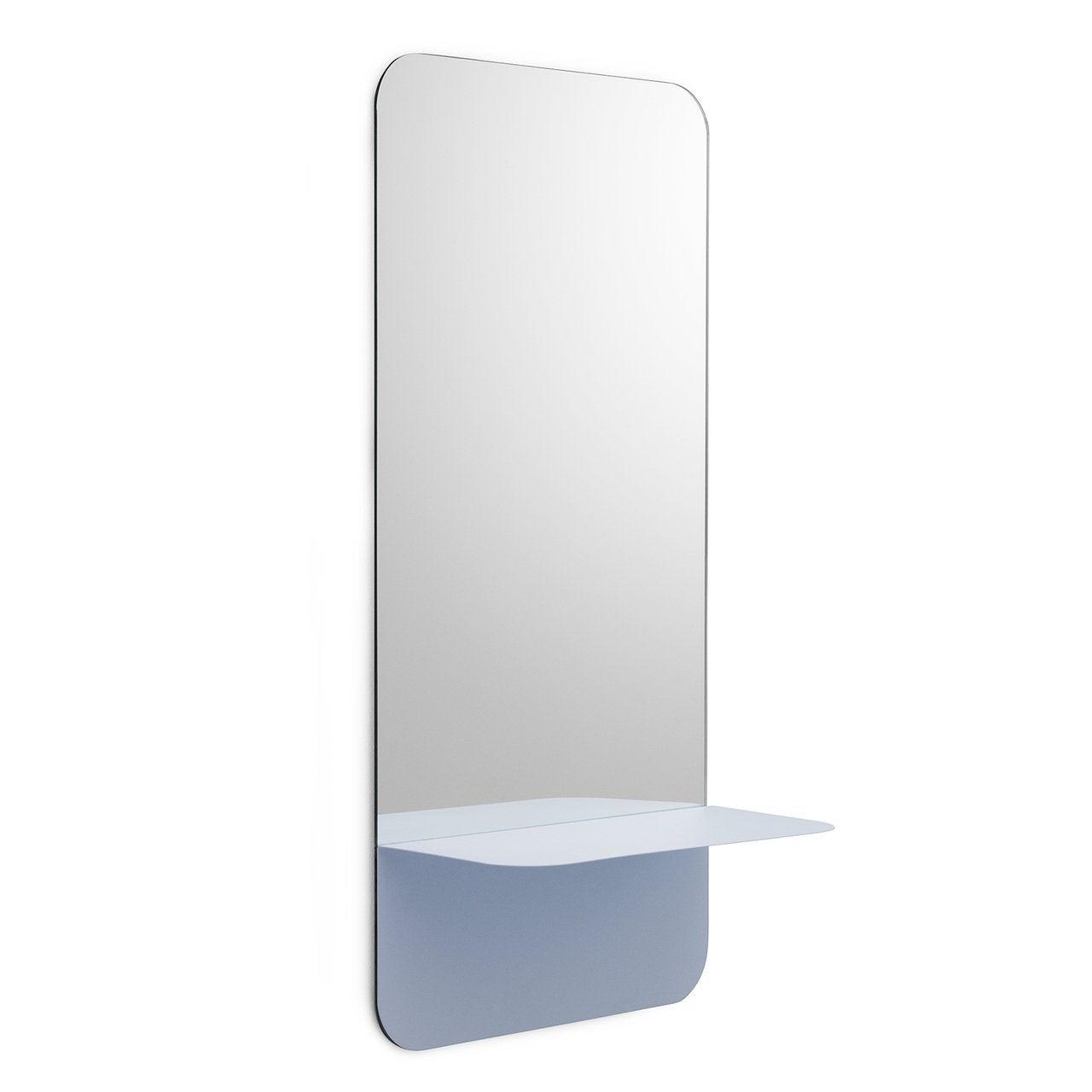 Light Blue Mirror With Shelf
