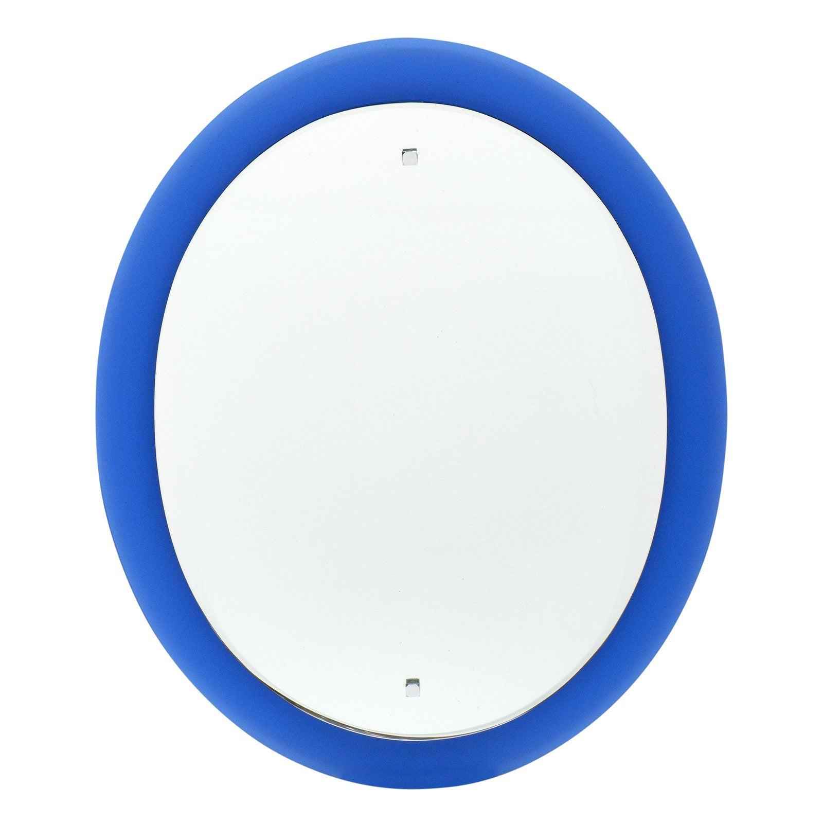 Vintage Cobalt Blue Mirror