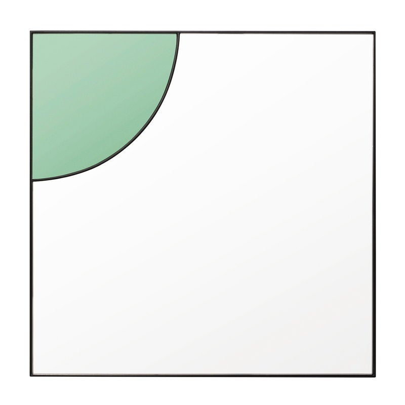 Mirror With Green Detail