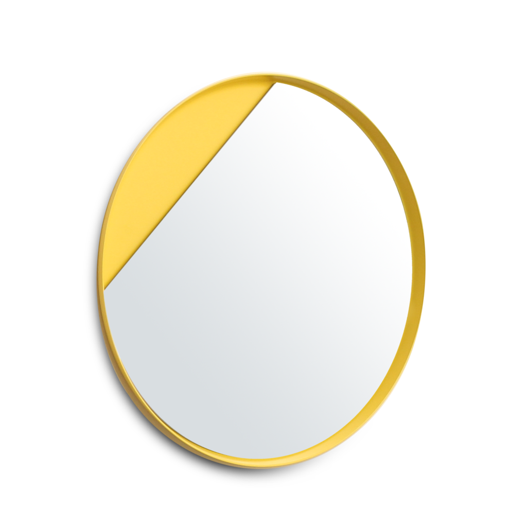 Yellow Eclipse Mirror With Cutout