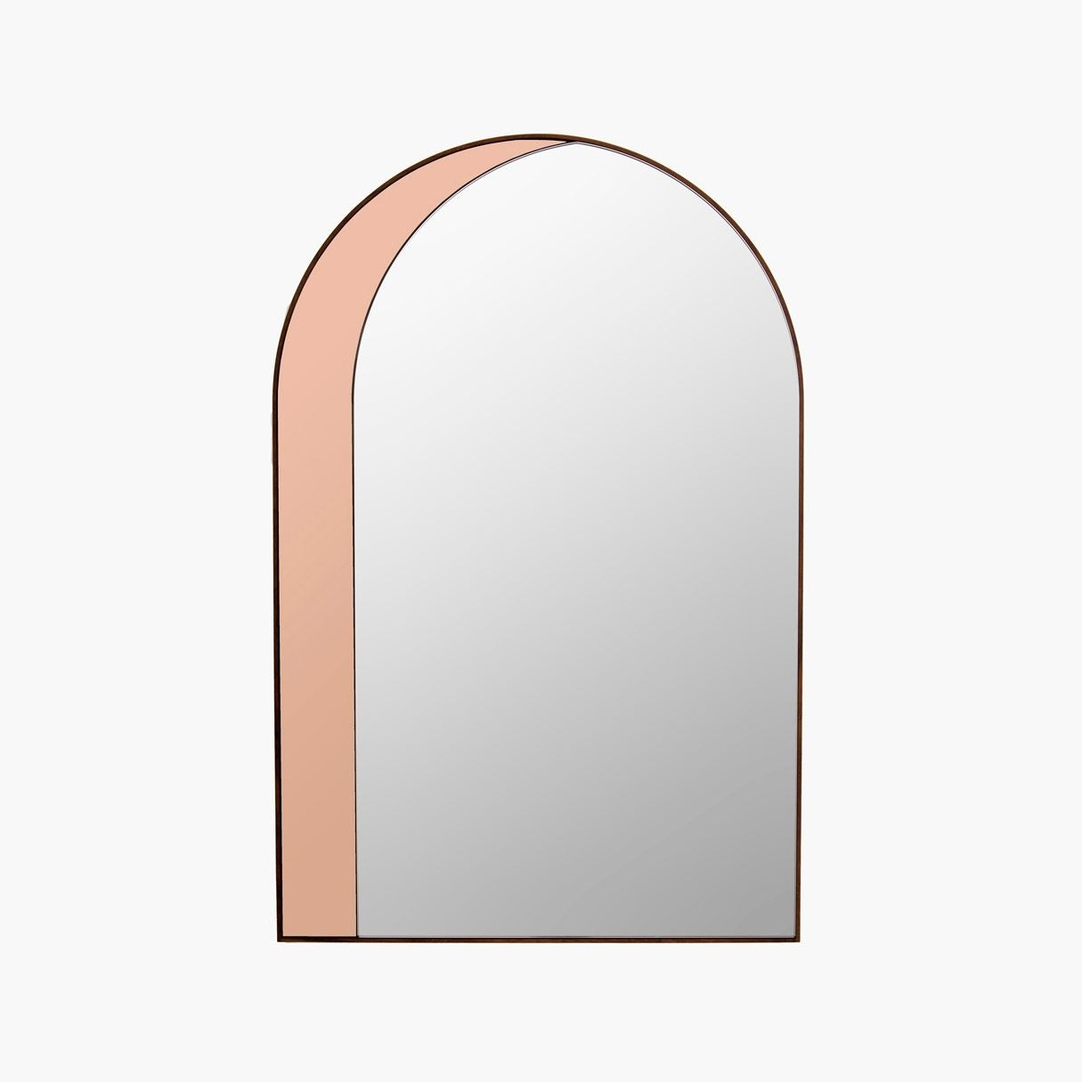 Arched Pink Window Mirror