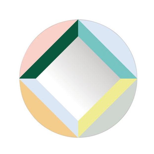 Multicolor Round Mirror