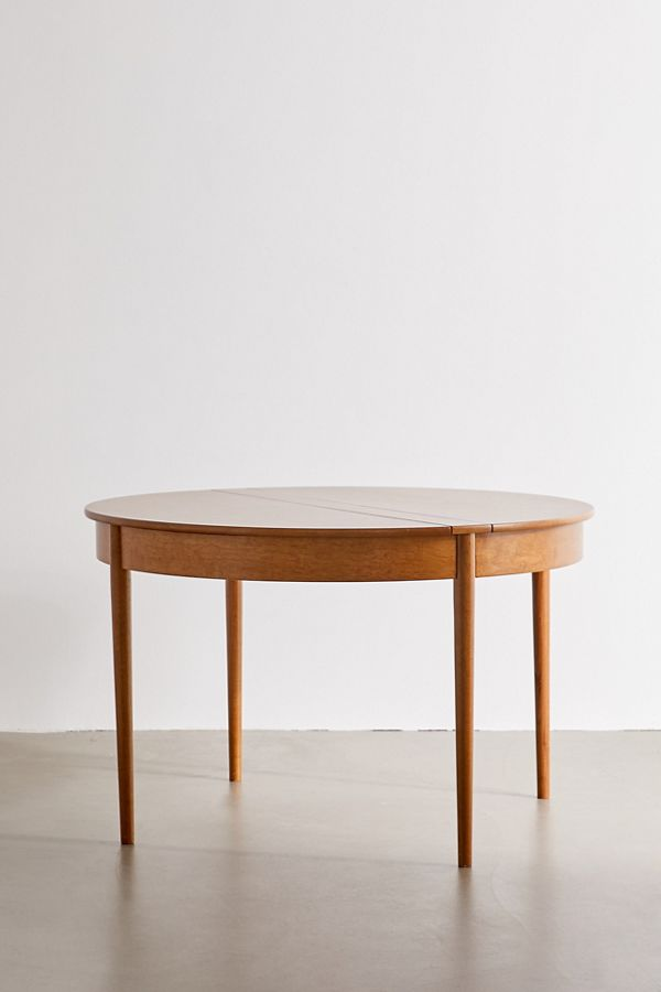 round midcentury dining table
