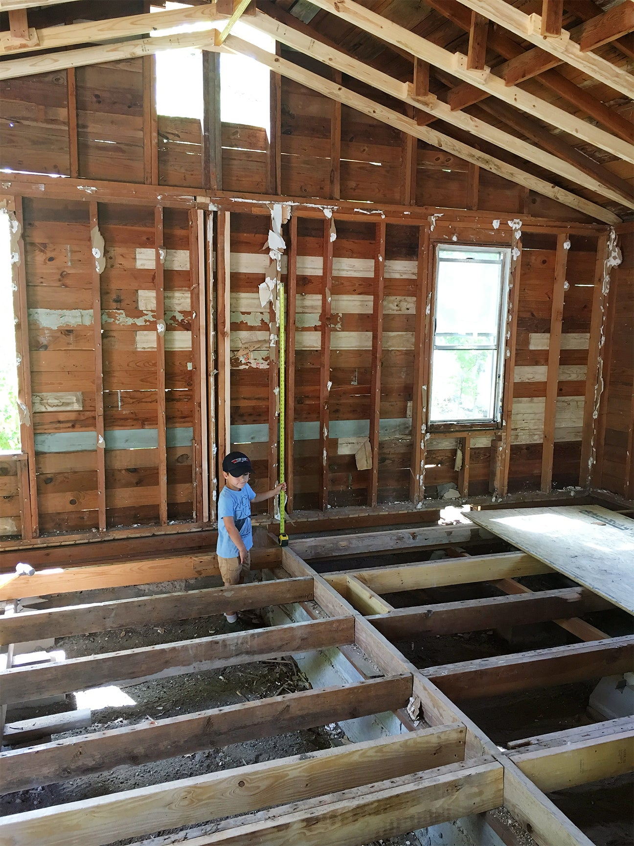 Before image of unfinished home.