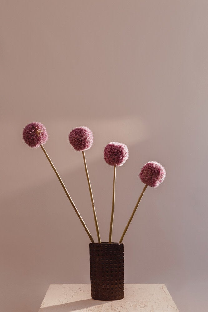 wispy floral arrangment in shades of lavder and pink