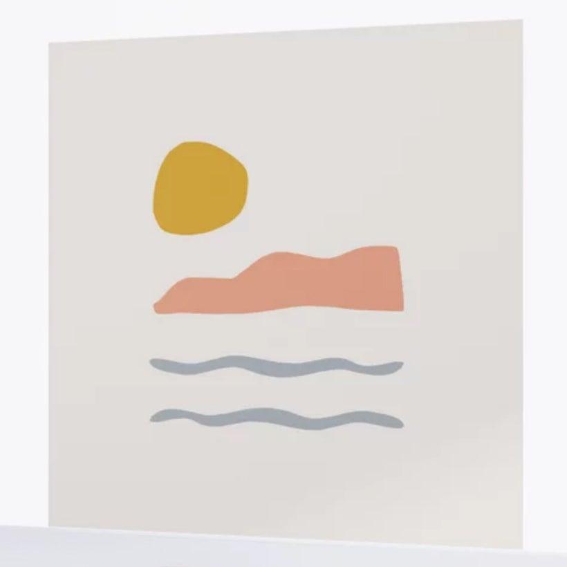abstract island notif