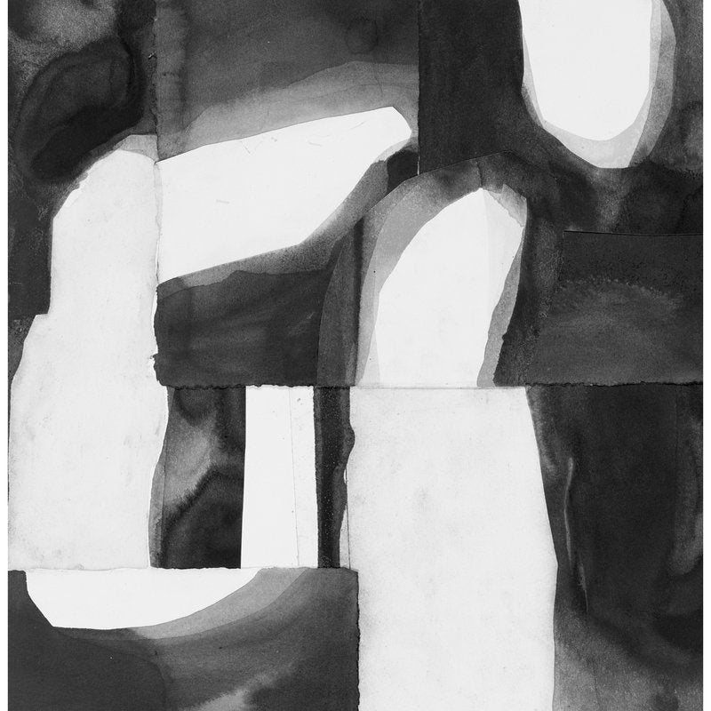 abstract black and white shapes