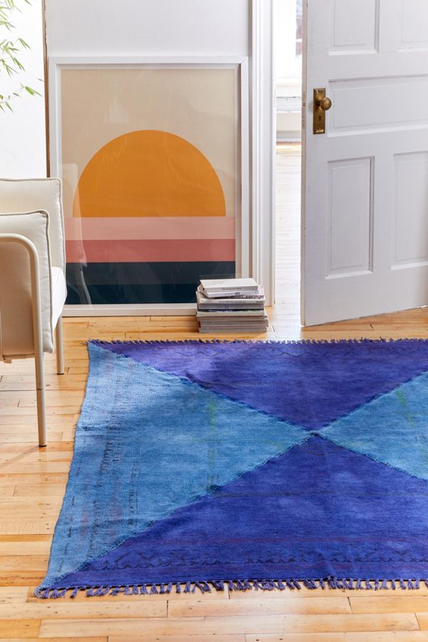 Urban Renewal Overdyed Remnant Triangle Patched Rug