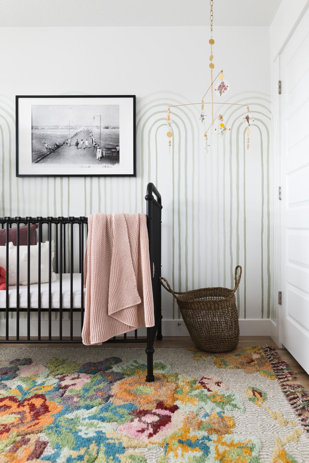 pale green arches in a nursery