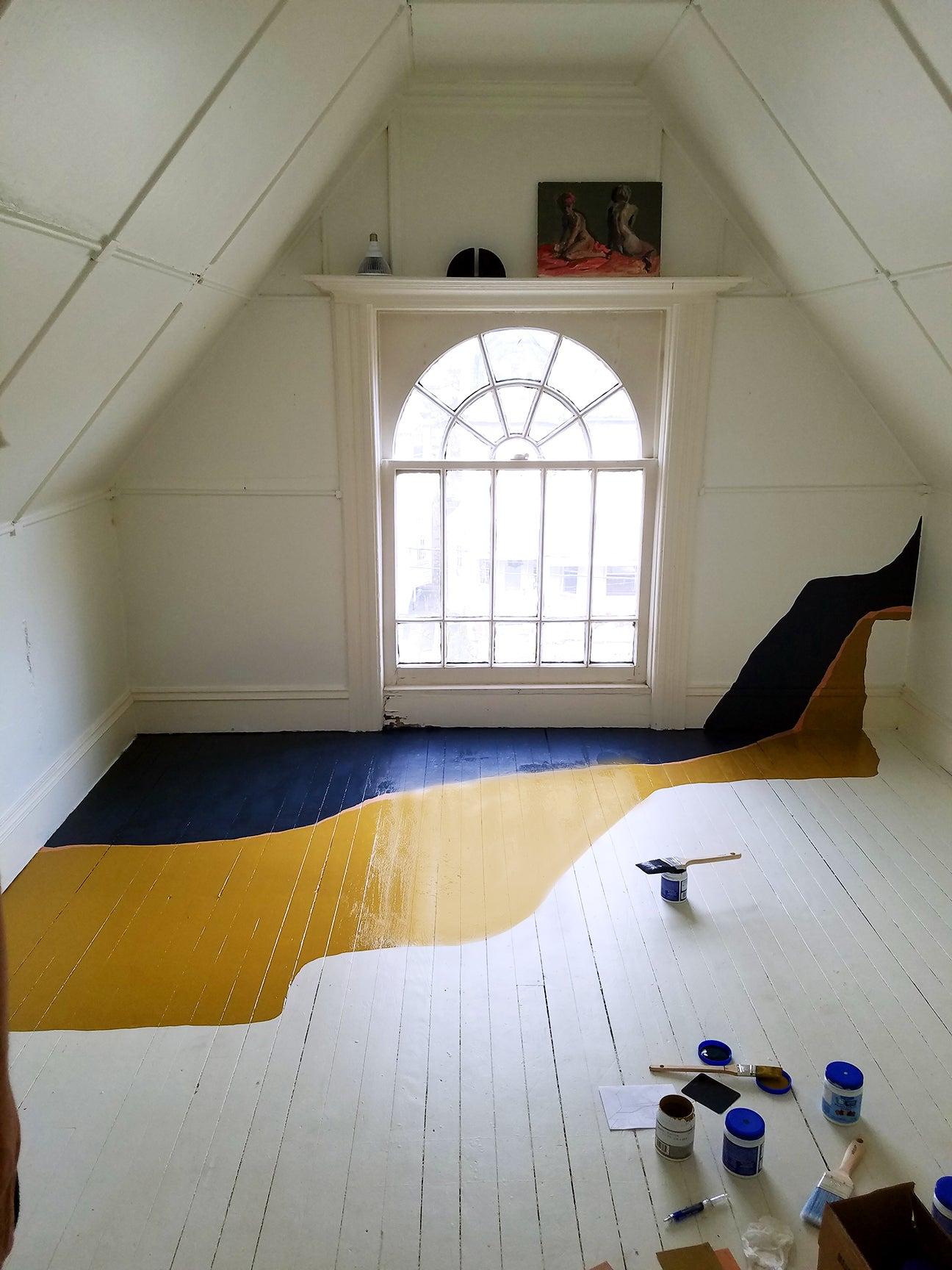 blue-yellow-floor-design