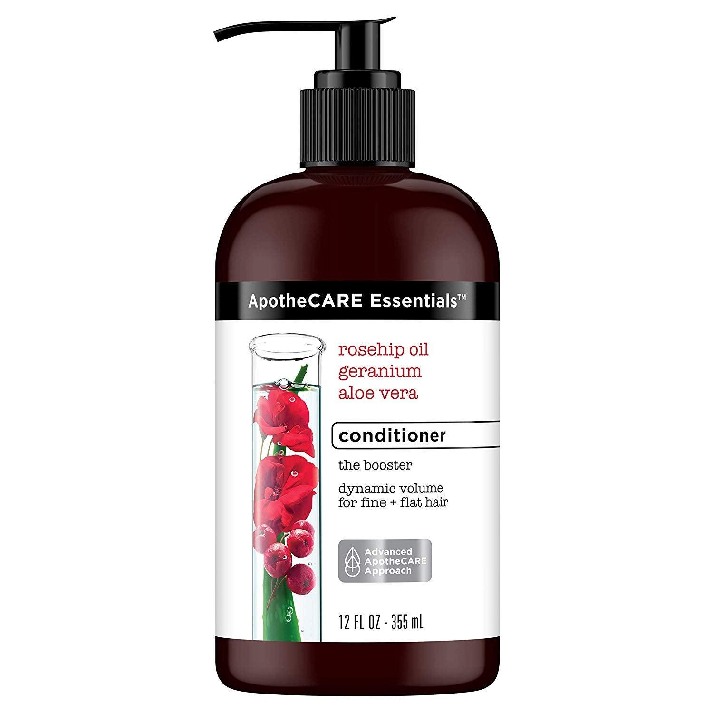 ApotheCARE Essentials The Booster Rosehip Oil, Geranium _ Aloe Vera Volumizing Shampoo