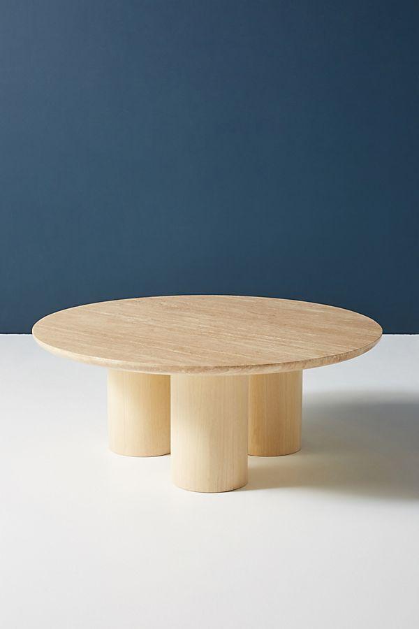 Anya Travertine Coffee Table