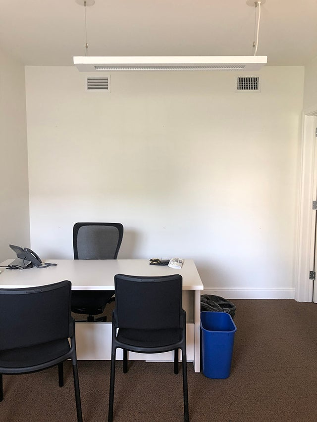 before photo of a standard office