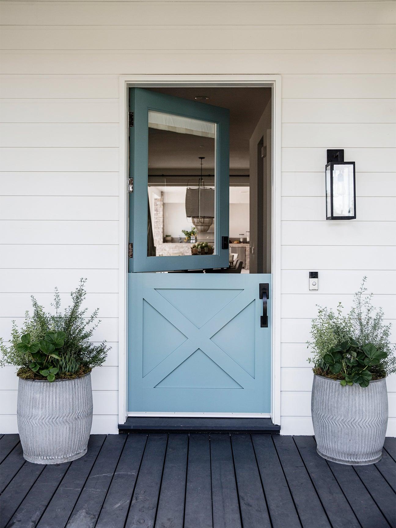 light blue dutch door