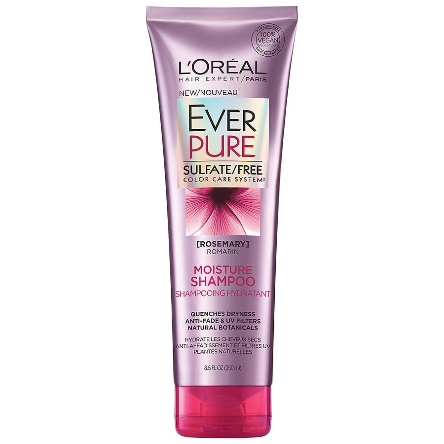 product description page L'Oreal Paris EverPure Sulfate Free Moisture Shampoo
