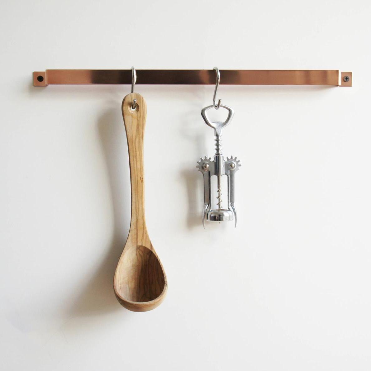 Copper Kitchen Rail