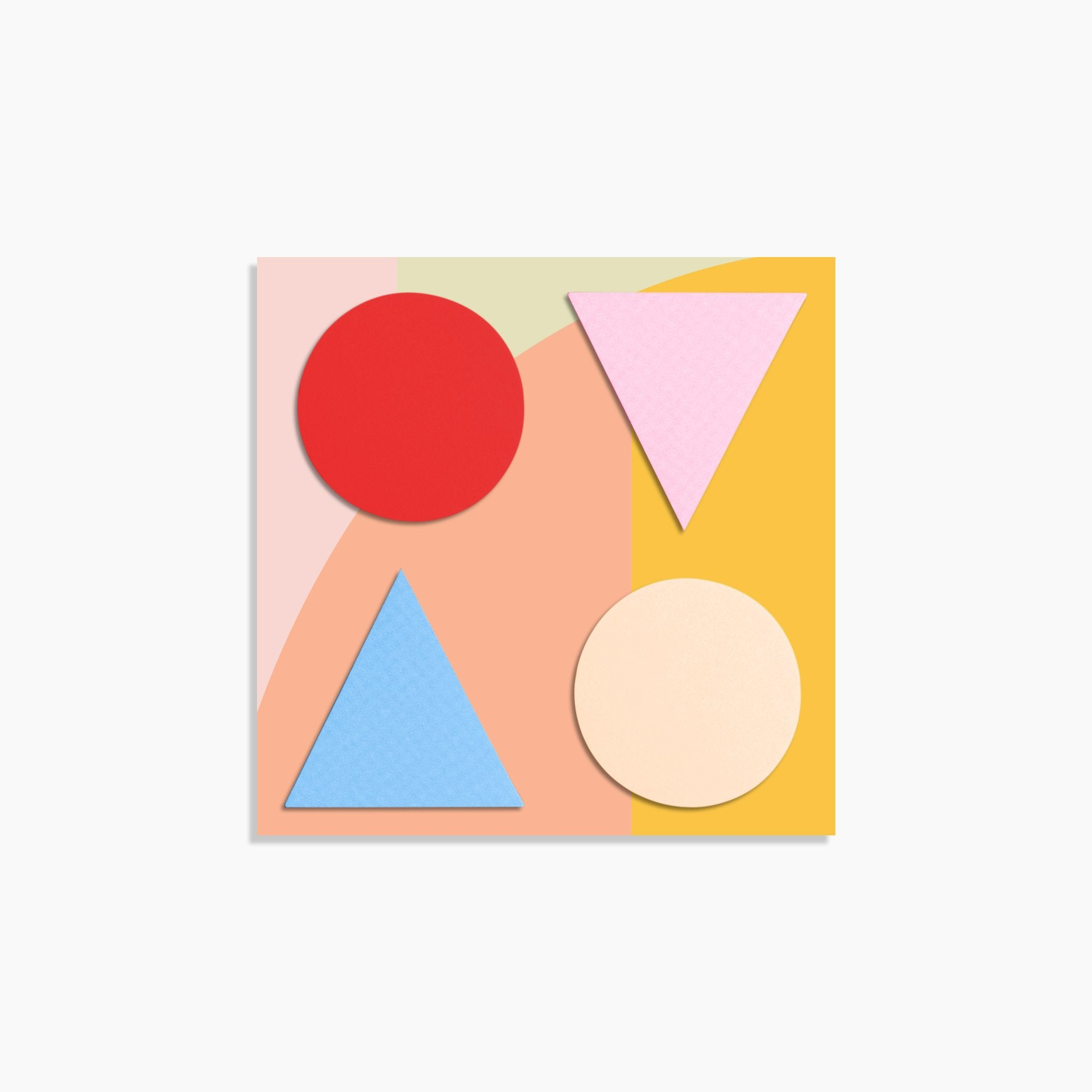 Geometric Sticky Notes in Warm