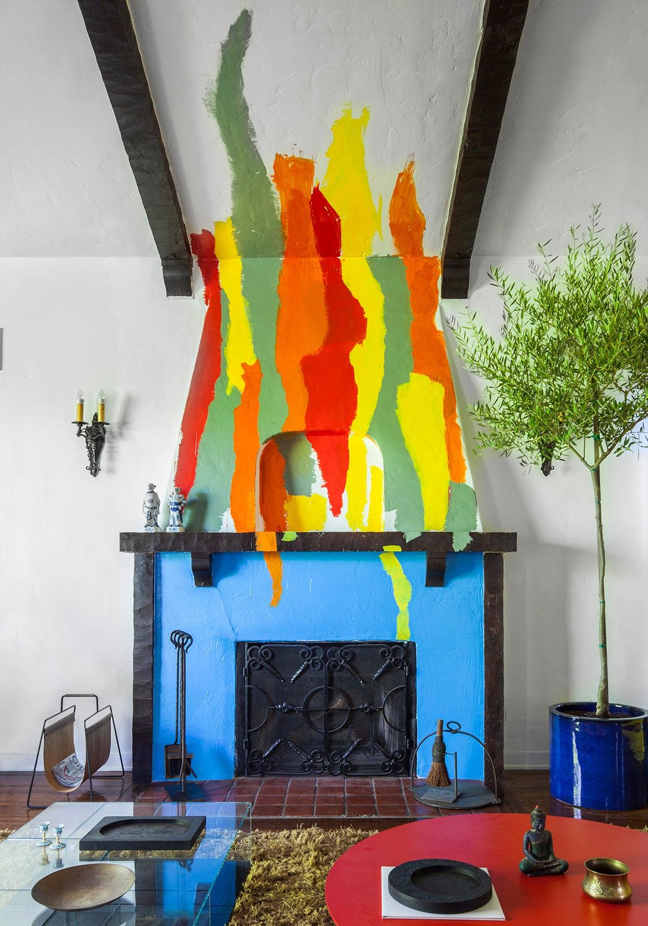 fireplace-mural