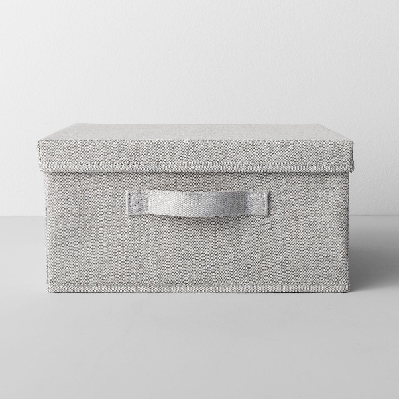 Short Fabric Bin With Lid