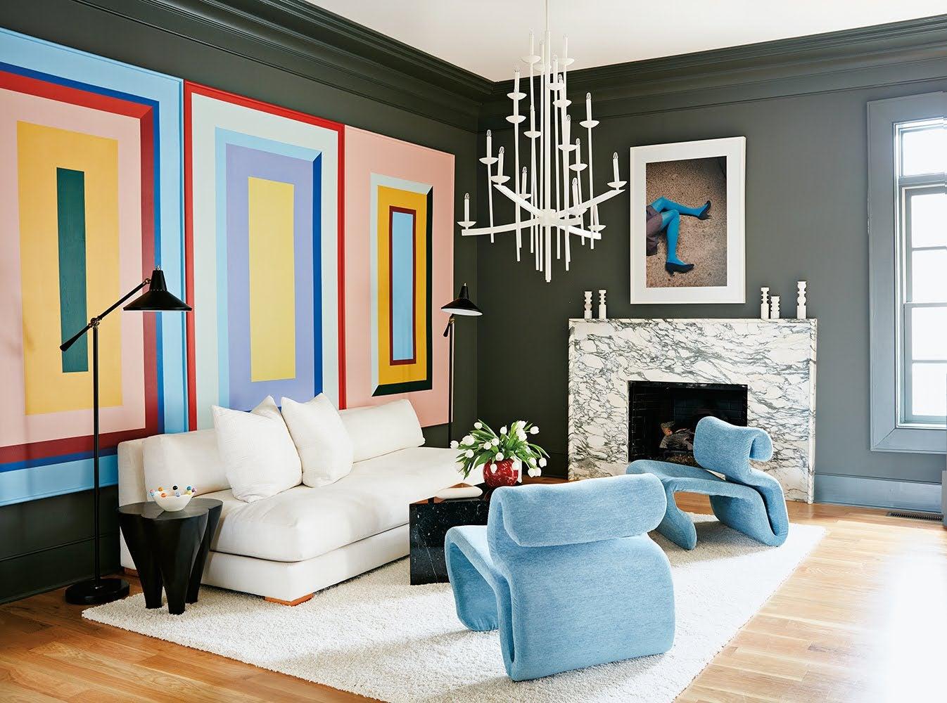 black-walls-living-room