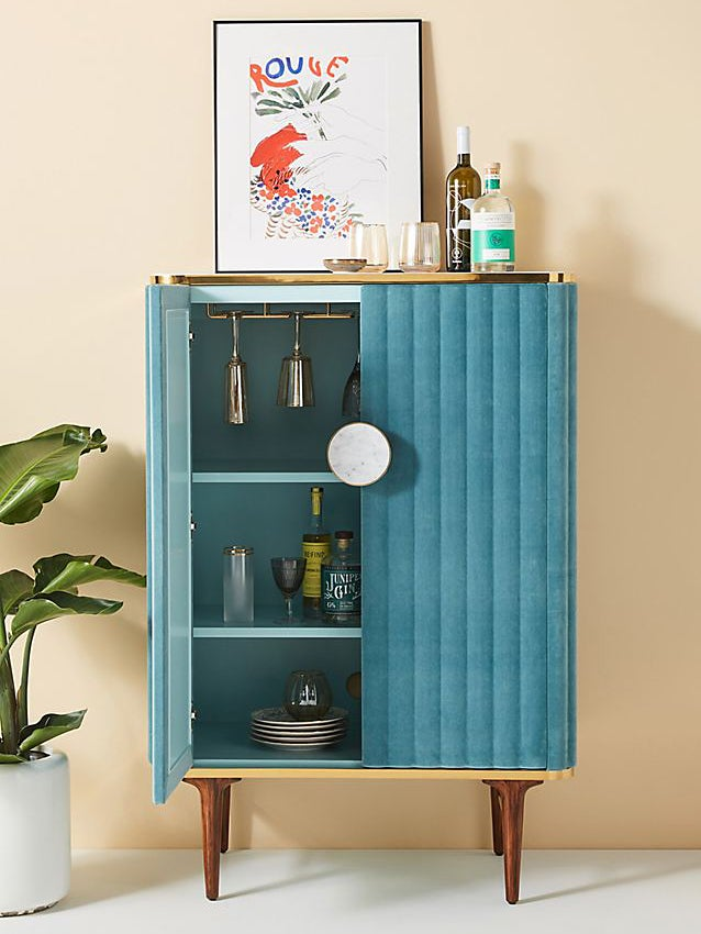 Step Aside, Bar Carts—This Is the New Chic Way to Store Your Booze