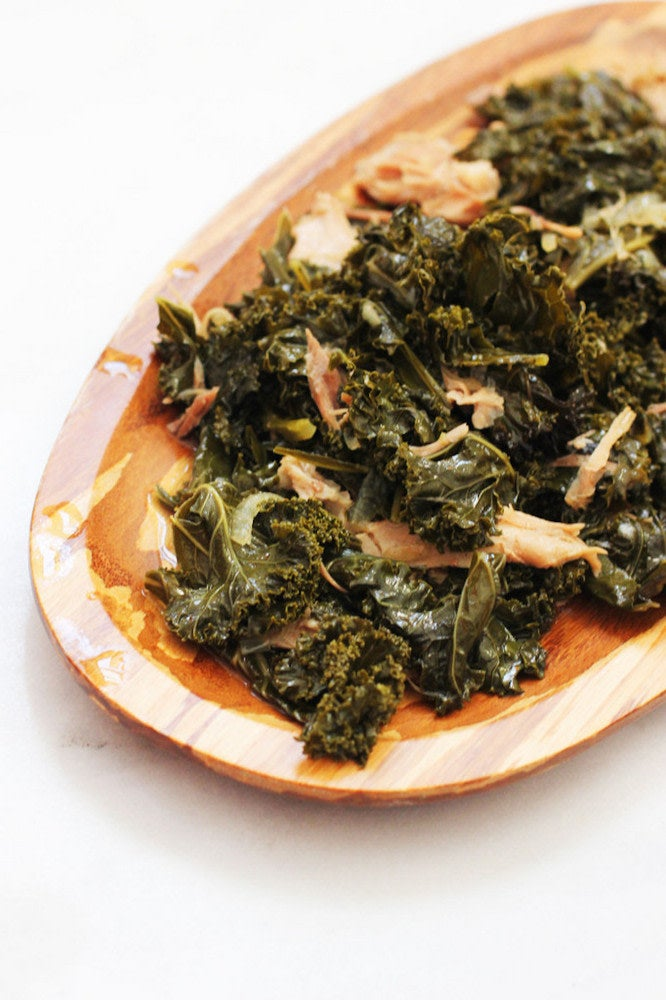 wilted kale dish