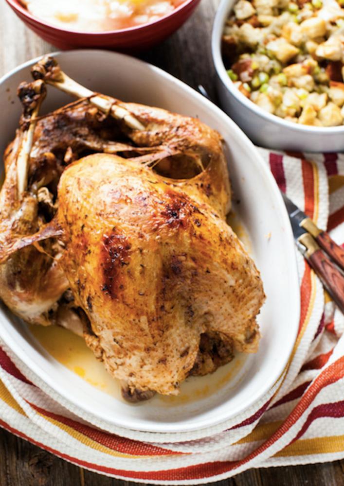 turkey on the tbale