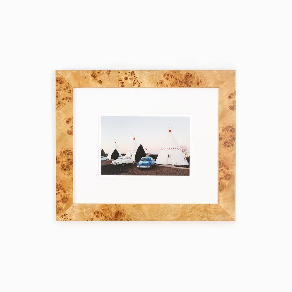 Teepee_Cars_Photo_Burl_Wood_Frame_White_Wall