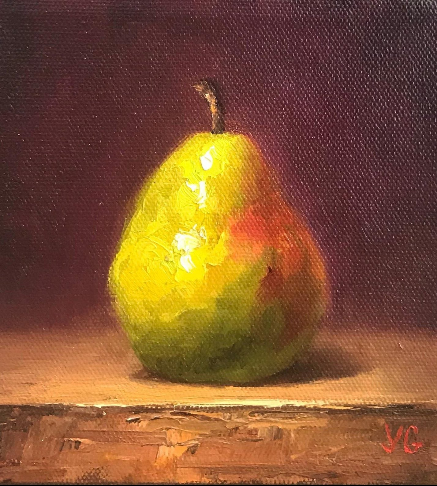 pear-original-oil-painting-on-canvas-painting-8974