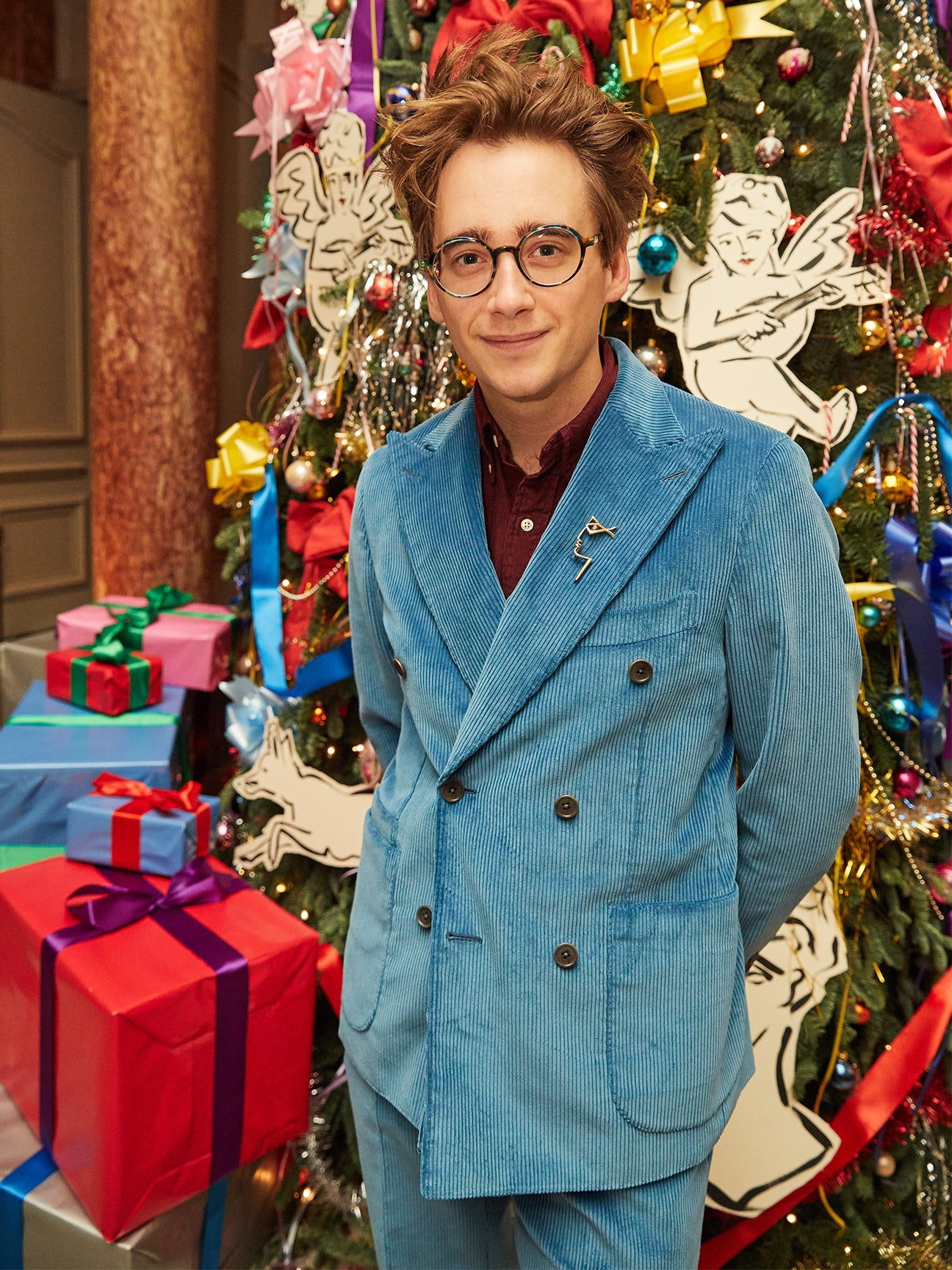 Luke Edward Hall's Christmas Tree Is Peak Maximalism
