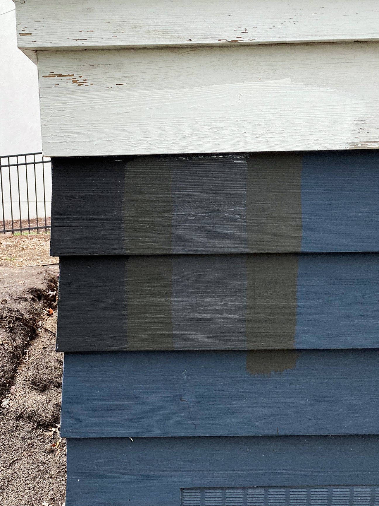 paint swatches on side of house