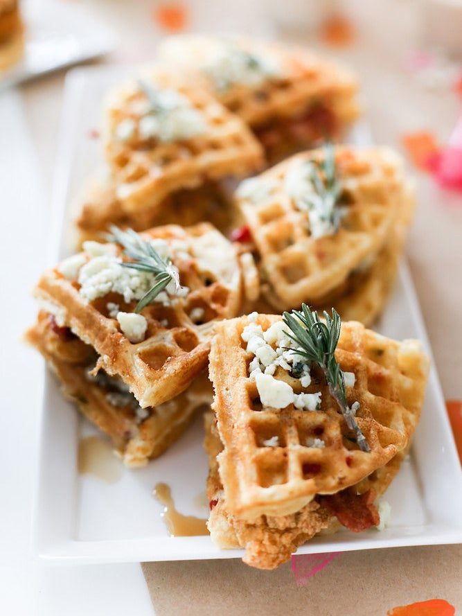 waffles covered with cheese