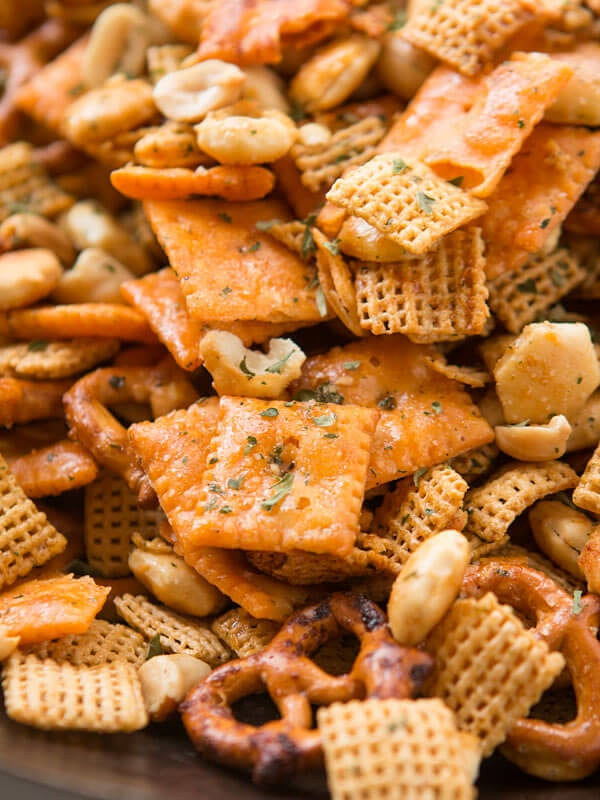 ranch chex mix snack bowl