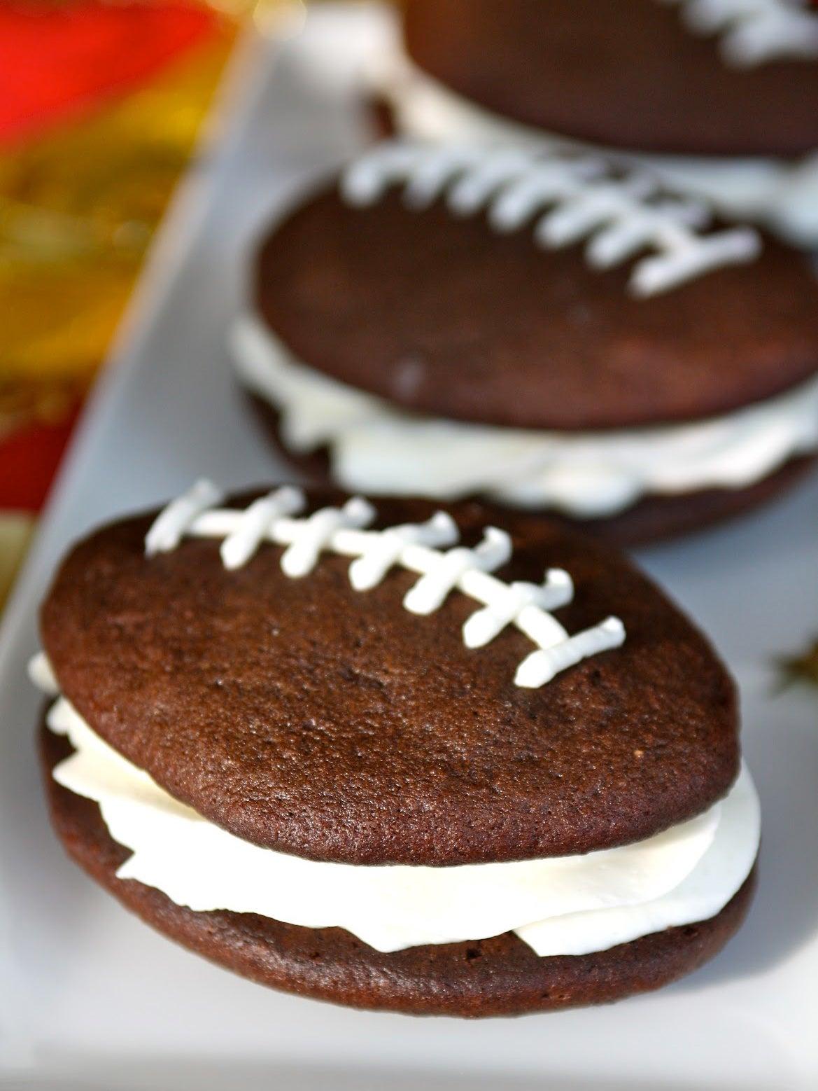 cookie shaped like a football