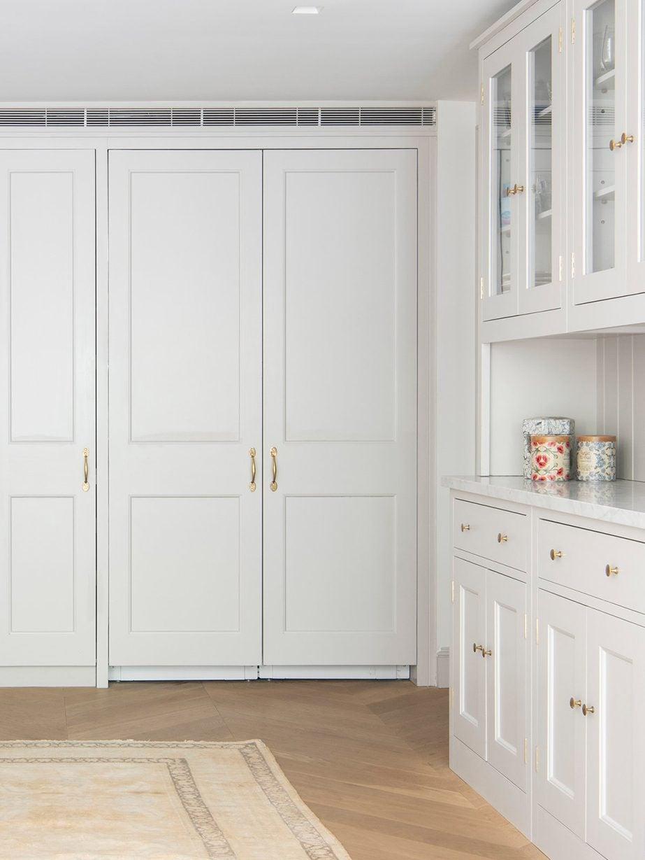 large open white-gray kitchen design
