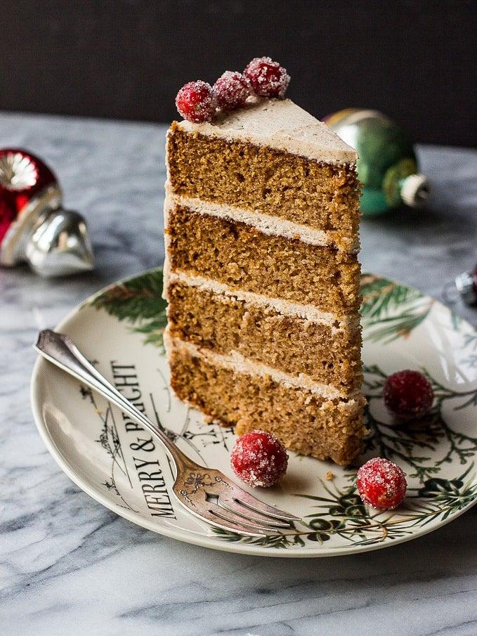 multi layer Christmas spice cake