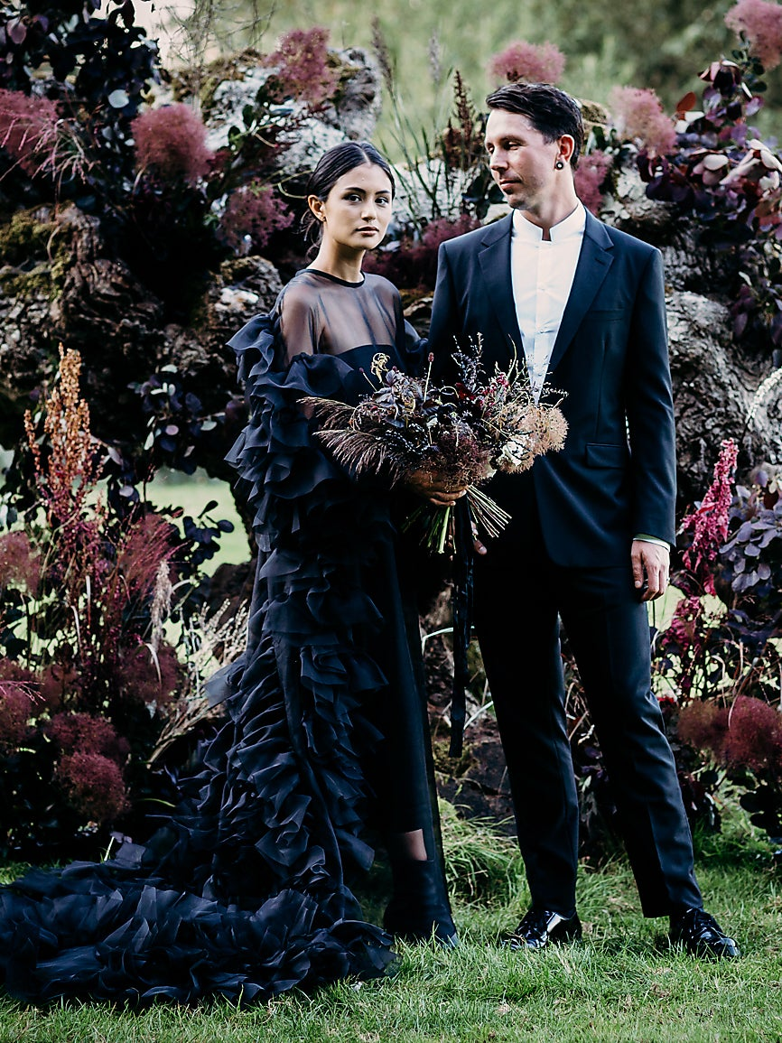 Gothic Florals and a Tattoo Station: This Couple Planned a Wedding on Their Own Terms