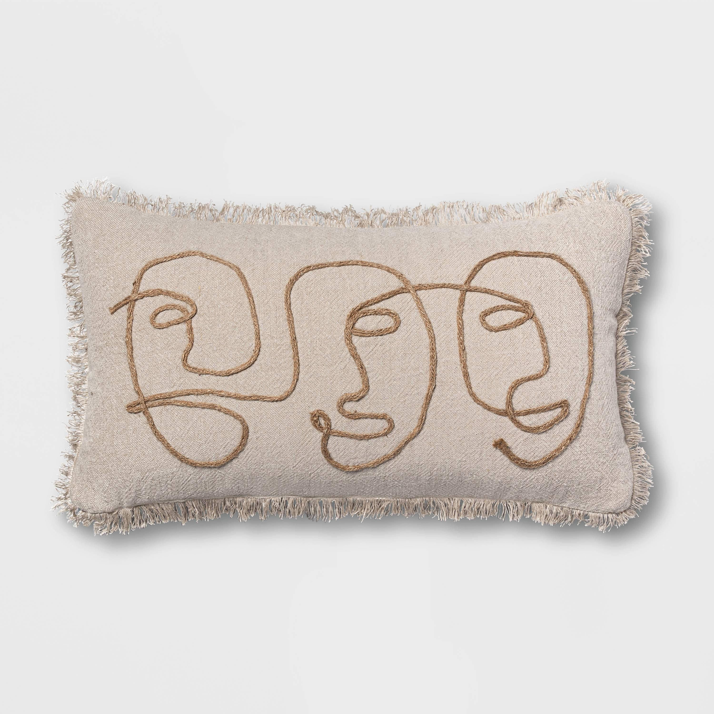 throw pillow with faces on it
