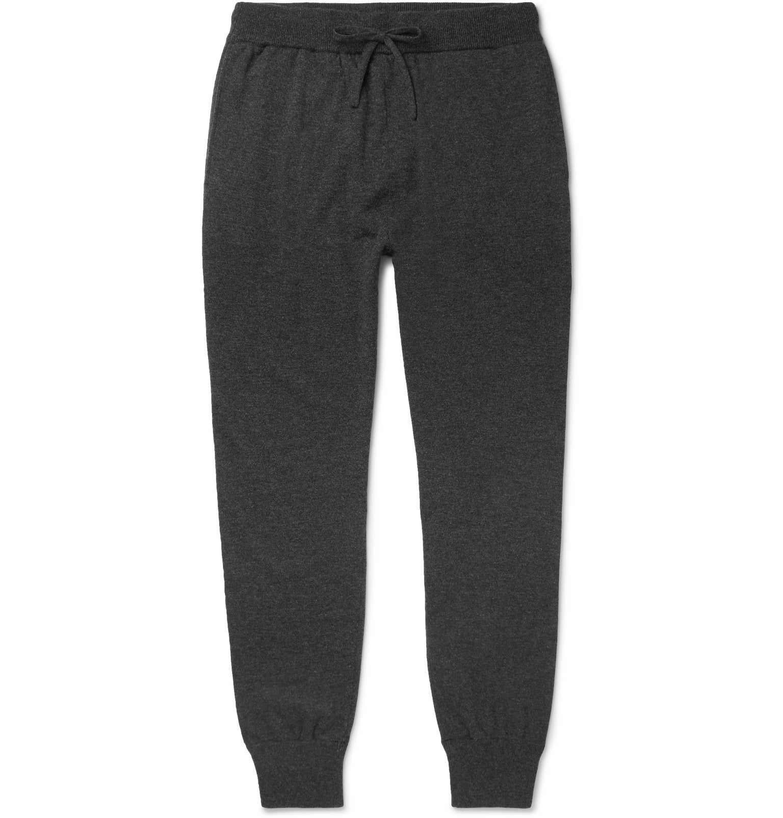 Slim-Fit Tapered Mélange Wool and Cashmere-Blend Sweatpants