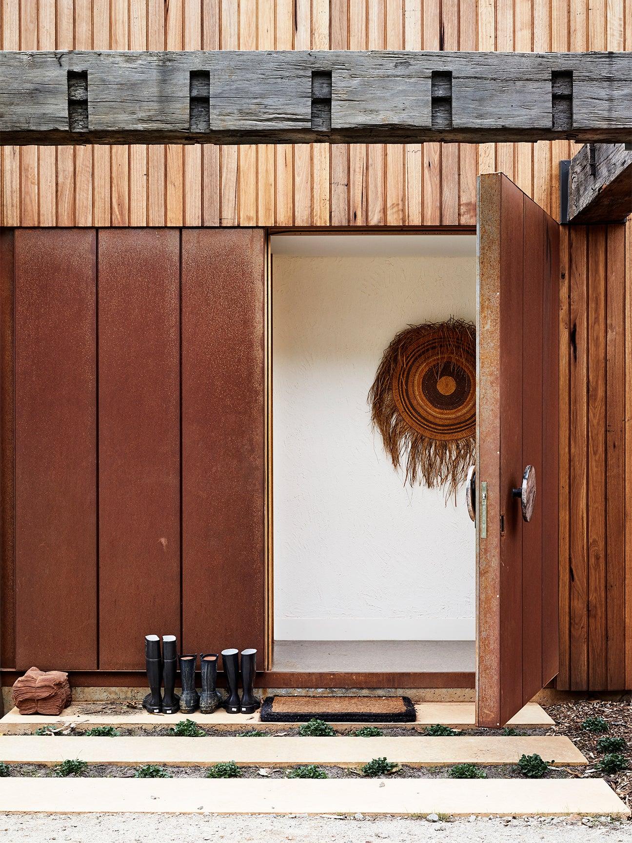 Oxidized rust doors
