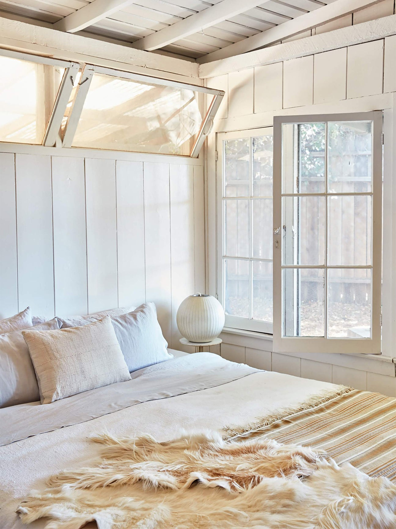 Small bedroom in shades of cream