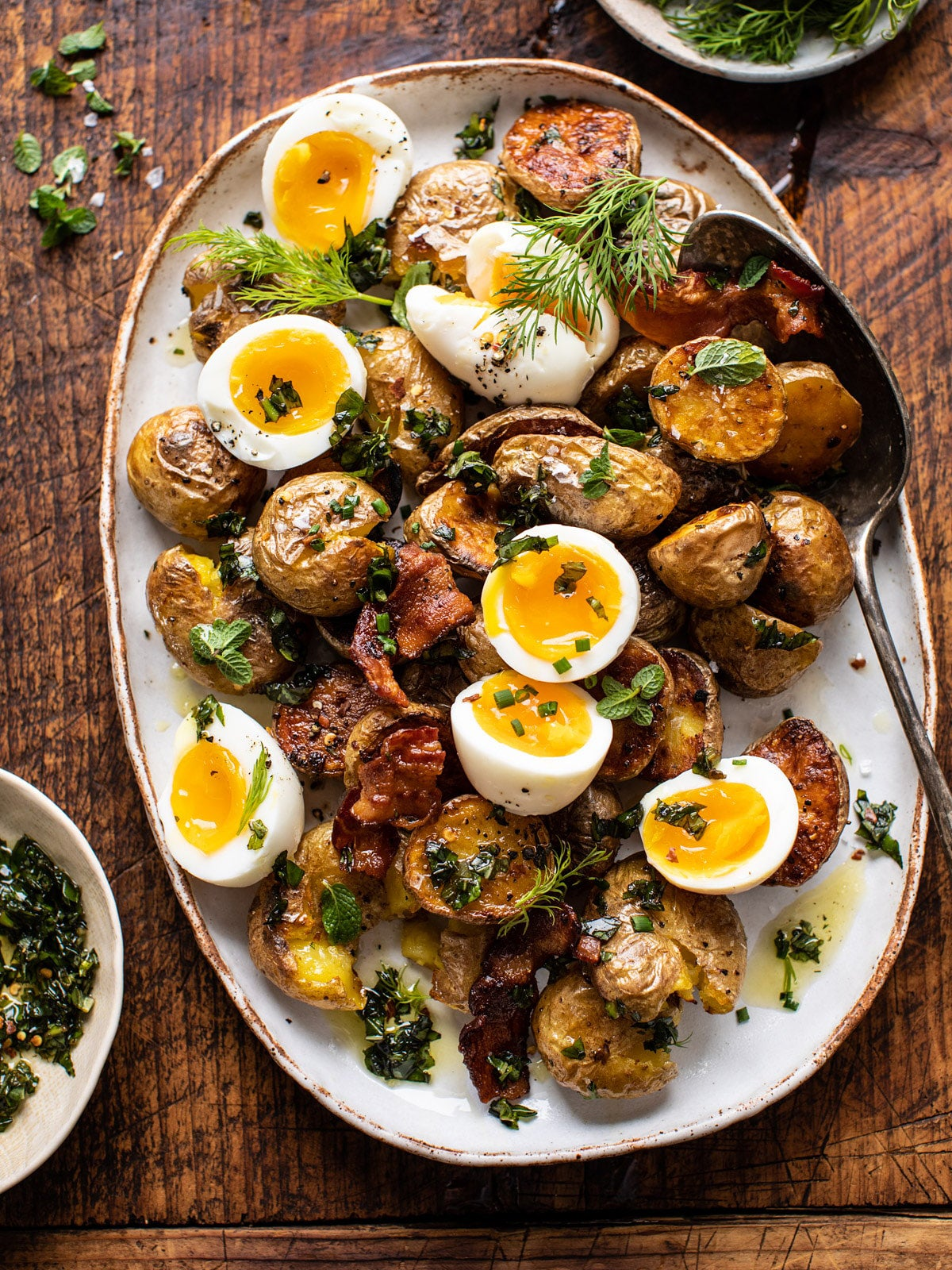Breakfast Potatoes With Soft-Boiled Eggs
