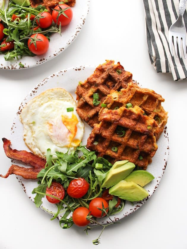 waffle and eggs