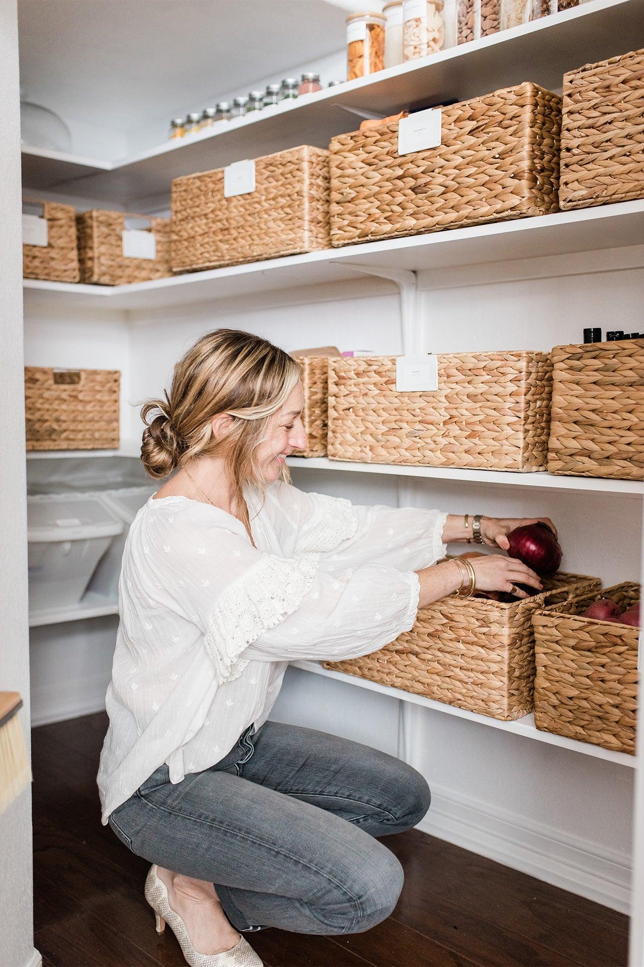 Shira gill organizing a pantry