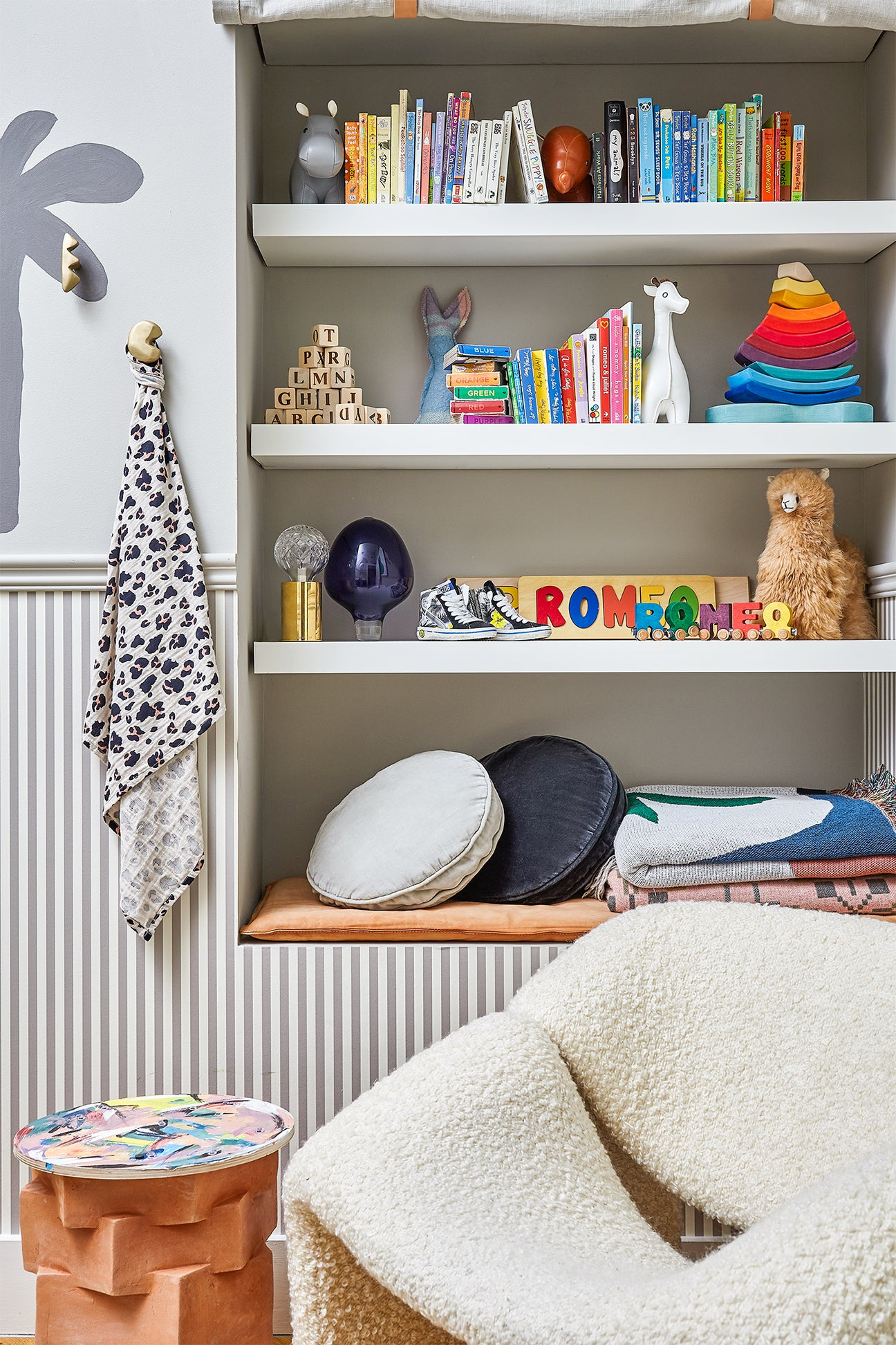 Kids room with hidden bookcase