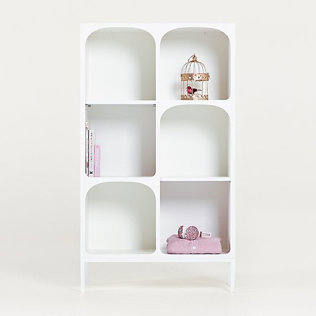 Anders White Cube Bookcase with Legs